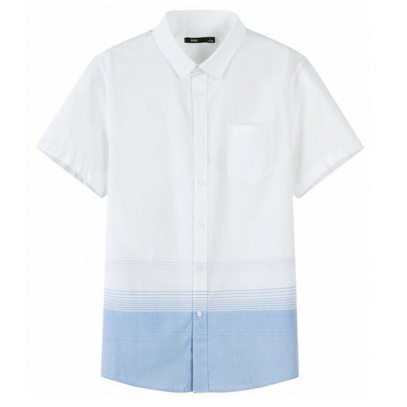 森马 19038041302 男士短袖衬衫