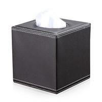 Richblue 悦利 A037 纸巾盒 咖色平纹(方形) *2件