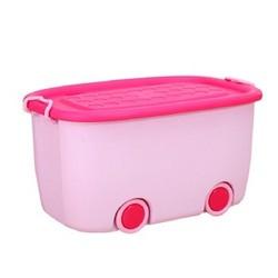 儿童玩具收纳箱收纳盒整理箱塑料储物箱衣物杂物储物盒 蓝色 47*31.5*25cm *2件
