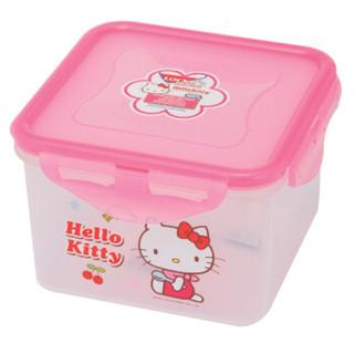 乐扣乐扣(LOCK&LOCK)HELLO KITTY密封型塑料保鲜盒860ml HPL855-KT粉色