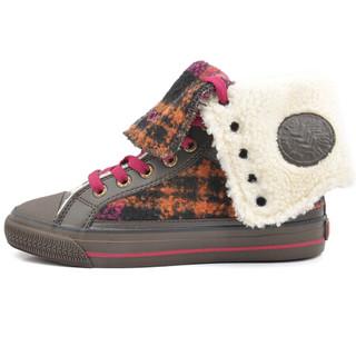 波尼PONY 女子 纽约文化 Shooter高帮硫化鞋 34W1SH06RM 37码