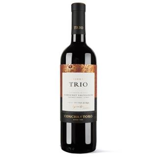 Concha y Toro 干露 三重奏 赤霞珠/品丽珠/西拉珍藏 干红葡萄酒 750ml *3件