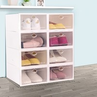 正浦 透明收纳鞋盒 20.5*29*12cm 8个装