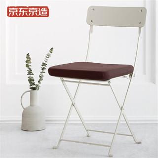 京东京造 记忆棉坐垫 咖啡色方形加厚椅子坐垫