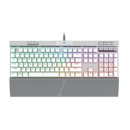 CORSAIR 美商海盗船 K70 MK.2 SE RGB 机械键盘 银灰色 Cherry银轴