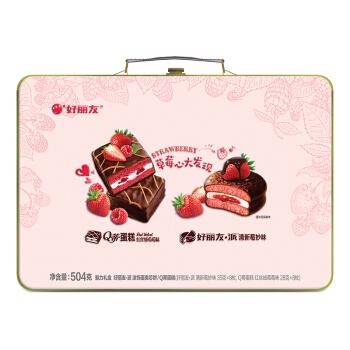 Orion 好丽友 草莓心大发现 (504g、草莓味、盒装、16枚)
