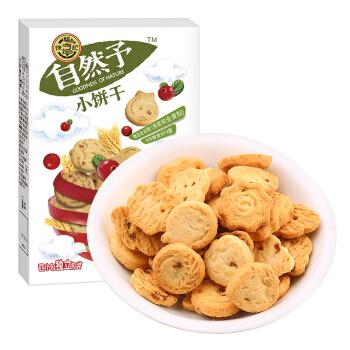 徐福记 自然予小饼干 (100g、蔓越莓味、盒装、4小包)