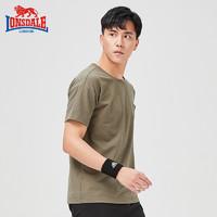 龙狮戴尔户外休闲t恤男2019夏季新款圆领短袖轻薄透气印花运动衫