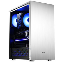 乔思伯(JONSBO)C5 银色 ATX机箱(小体积ATX机箱/铝镁合金外壳/钢化玻璃侧板/下置独立电源仓)