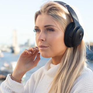 KAYO 咔哟  SE7主动降噪无线蓝牙耳机头戴式音乐耳机 ( 黑色、头戴式、32欧姆)