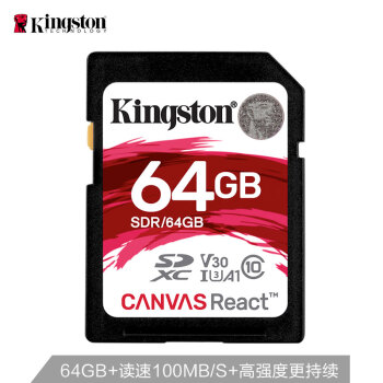 Kingston 金士顿 A1急速版 SD 存储卡 (64G、100MB/s)