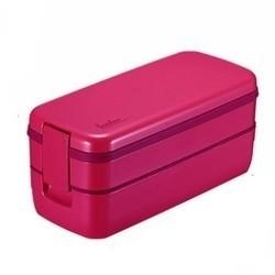 ASVEL 分隔便当盒 双层 640ml 三色可选