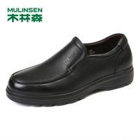 MULINSEN 木林森 男士 商务休闲 头层牛皮 车缝线 乐福鞋 SL87141