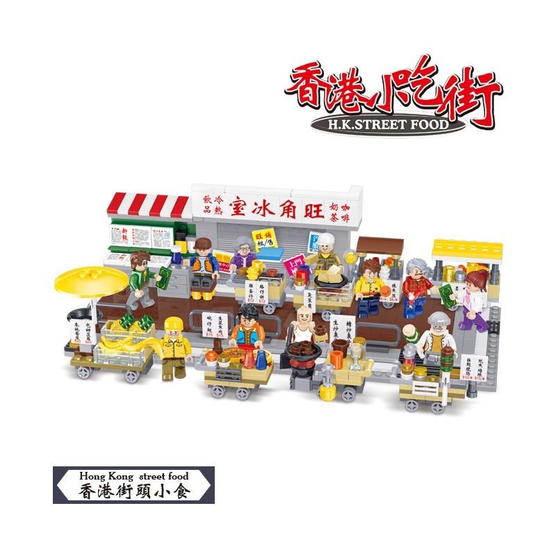 JAKI 佳奇 香港小吃街 益智立体拼插玩具 八款可选