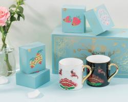 木否 暖心花语杯茶礼盒(2个杯+6盒茶)