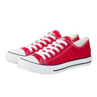WARRIOR 回力 男士 经典款帆布鞋 低帮 系带帆布鞋 WXY-391 经典红色、41