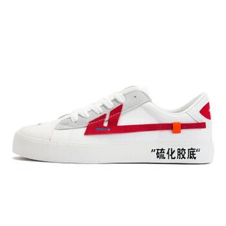 WARRIOR 回力 男士 ins超火潮鞋 帆布 低帮 3G01 白红、39