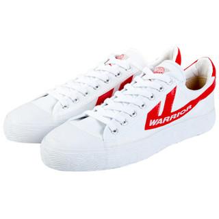 WARRIOR 回力 男士 复古经典帆布鞋 帆布 低帮 WB-1 金奖红白、40