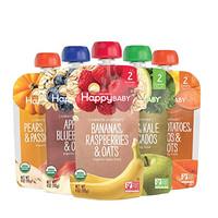 Happybaby禧贝 透明包装果泥 5口味组合 (牛油果+蓝莓+甘薯+覆盆子+百香果)