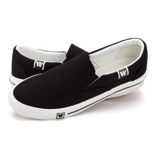 WARRIOR 回力 男女 学生休闲鞋 帆布 低帮 WXY-903T 黑色、37