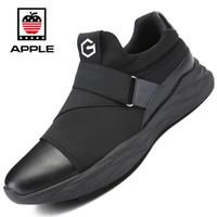 Apple 苹果 男 时尚韩版 网布 车缝线 运动鞋 501 (黑色、42)