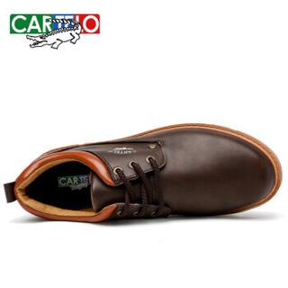 CARTELO 卡帝乐鳄鱼 男士低帮韩版人造皮革车缝线驾车鞋 KDLG07