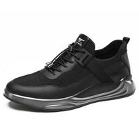 SEPTWOLVES 七匹狼 男士 时尚潮流 网布 车缝线 运动鞋 8373495804 黑色、41