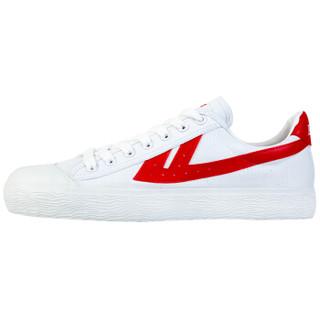 WARRIOR 回力 男士 复古经典款 帆布 帆布鞋 WB-1 红白、41