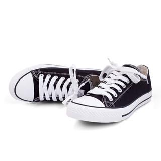 WARRIOR 回力 男女 情侣款低帮 帆布 帆布鞋 WXY-391 经典黑色、37