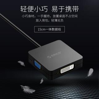 ORICO 奥睿科 XD-MDFHDV-BK 视频转换器 (黑色、MINI DP、15cm)