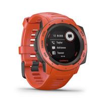 佳明 GARMIN instinct本能 GPS蓝牙多功能跑步智能运动表智能心率防水军表 火焰红