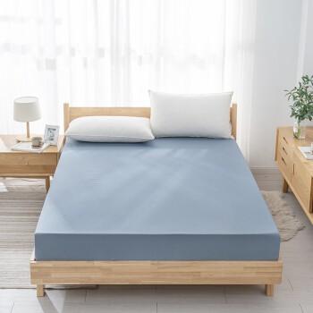 京造 全棉纯色床笠 150x200x33cm 深海蓝