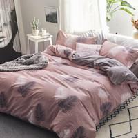 九洲鹿 全棉 韩式风情 四件套 (1.5m双人床、床单式、40支、200*230cm)