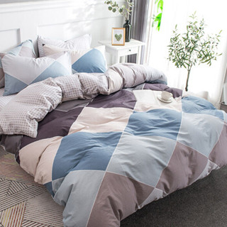 Nan ji ren 南极人 套件家纺 纯棉四件套 全棉床上用品床单被套 绅士品格 1.5米/1.8米床 200*230cm