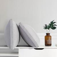 九洲鹿 套装 枕头 (白色、双人、双支装、纤维枕)