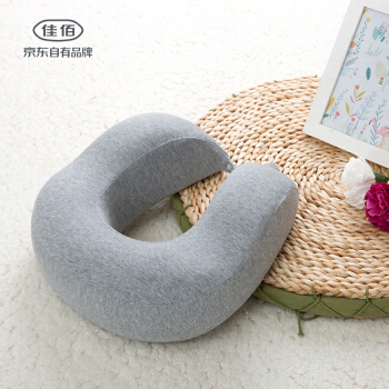 佳佰 弹颈枕头 (灰色、28*30*10CM、纤维枕)