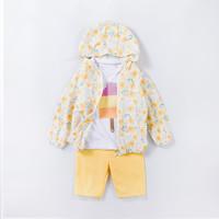 Oissie 奥伊西 1-7男女宝宝夏季防晒外套+短袖T恤+短裤儿童夏季三件组合套装