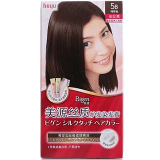 美源(Bigen)丝质护发染发膏5B(纯啡色)(美源染发膏染发霜女士专用持久不易掉色植物染发剂遮盖白发)