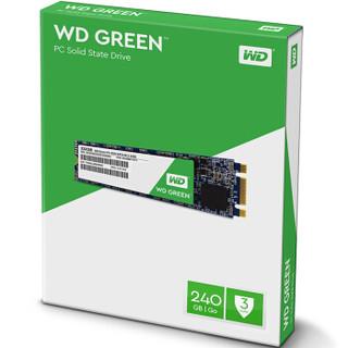 西部数据(WD)240GB SSD固态硬盘 M.2接口(SATA总线) Green系列-SSD日常家用普及版|三年质保