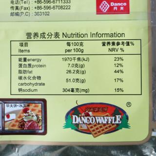 丹夫华夫饼 原味 139g/袋