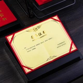 得力(deli)10本12K绒面荣誉证书附赠内芯 50705