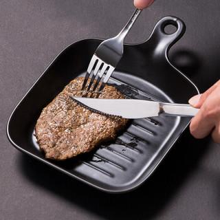 双枪(Suncha)刀叉勺套装 不锈钢刀叉勺三件套牛排套刀组合装CF1114