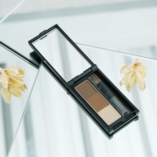 凯朵(KATE)立体造型三色眉粉EX-5棕色 2.2g(防水防汗 持久 不晕染 彩妆)