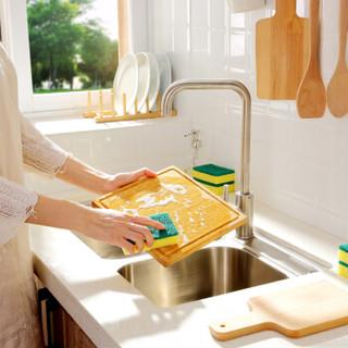 家杰 家用洗碗布 海绵百洁布 多用途百洁布洗碗巾抹布 特惠8片装 JJ-CF201