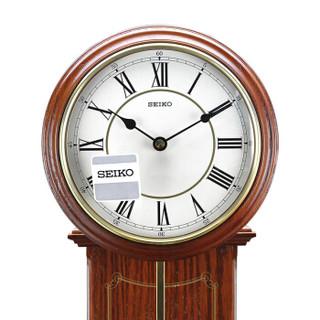 精工(Seiko)时尚创意欧式居家客厅钟摆木质挂钟挂表