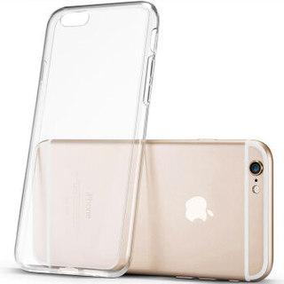 伟吉(WEIJI)iPhone 6/6s Plus手机壳 苹果6/6S Plus 手机壳/手机套 硅胶透明全包防摔软壳男女款