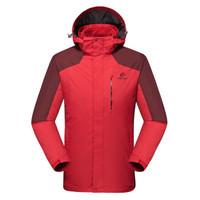 TECTOP 探拓 三合一两件套冲锋衣 JW7709 红 3XL