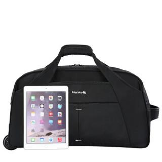 HANKE 汉客 拉杆包 防泼水大容量户外行李包袋男女休闲登机旅行包袋 T638 20英寸黑色