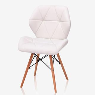 华恺之星 休闲椅凳子 创意办公家用靠背电脑椅子 接待座椅子HK-Y04白色