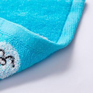 洁丽雅兰grace·orchid口水巾方巾小毛巾家纺小熊童巾三条装 桔+红+兰三条礼盒装